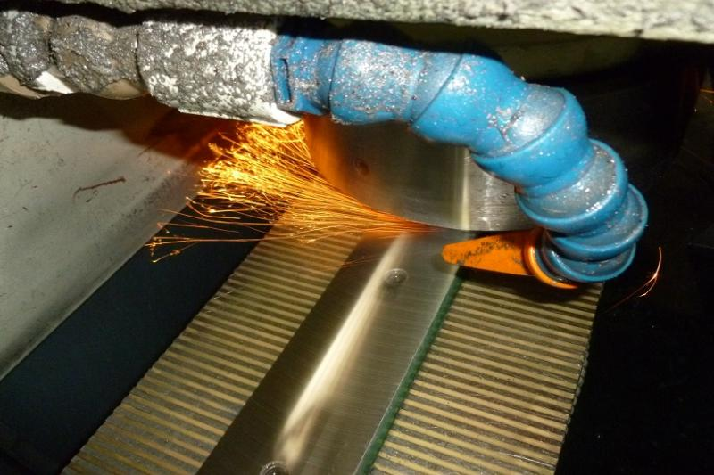 Afiar facas industriais